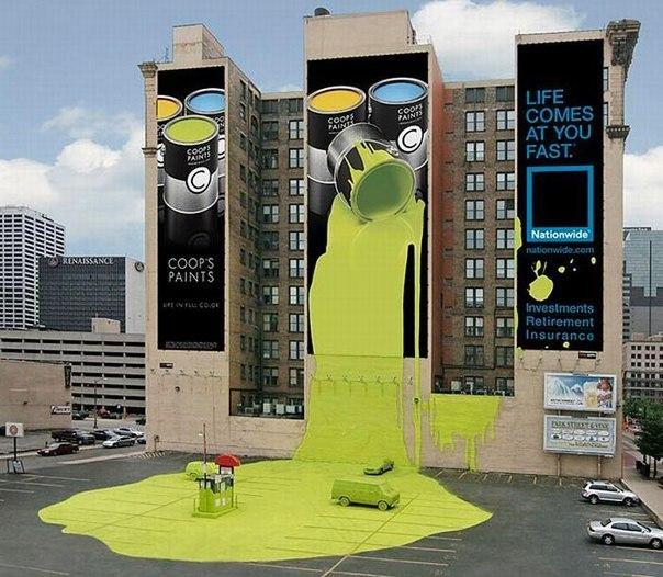 креативна реклама фарби