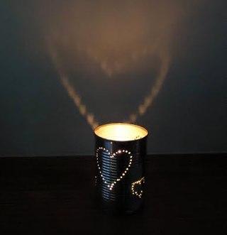 романтичний підсвічник серце